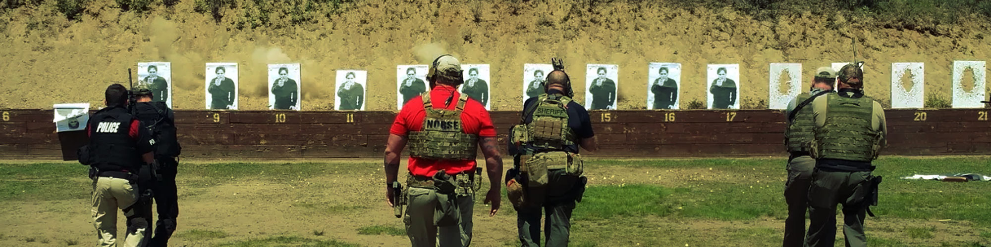 officers on gun range